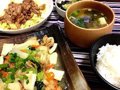 麹料理で。 - 12件のもぐもぐ - 塩麹でシーフード野菜炒めAND醤油麹で豚肉炒めon白菜サラダ by jumin