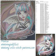 Schema punto croce Rochelle Goyle 150x172 50 colori.jpg (3.9 MB) Mai osservato