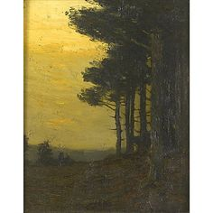 """Untitled, Charles Warren Eaton, oil on board, 10.25 x 8.25"""", private collection."""
