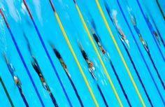 En la piscina olímpica.
