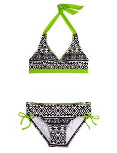 Black And White Pattern Bikini Swimsuit | Bikinis | Swimsuits | | Shop Justice