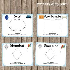 Shape Play Dough Mats - PreKinders (ask the kids what other things can make these shapes)