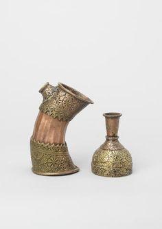 Two copper Hookah Sections Skardo, Balistan (Upper Indus Valley), circa 1820(2)