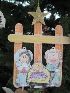 this year we made a nativity craft
