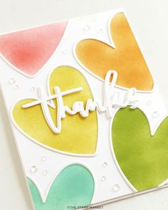 Hand Stamped Cards, Card Tricks, Die Cut Cards, Heart Cards, Watercolor Cards, Card Tags, Diy Cards, Note Cards, Making Ideas