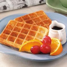 Overnight Yeast Waffles - these are delish! We made a double batch and froze them.  For weekday breakfast we poped them in the microwave or toaster, top them with yogurt & fruit for a quick healthy breakfast!