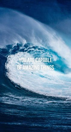 Remember that! And don't let anyone tell you differently! #YouAreCapable #OfAmazingThings