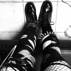 It's Black Friday Ripped Tights, Goth Subculture, Punk Goth, Gothic Outfits, Soft Grunge, Goth Girls, Fishnet, My Style, Goth Style