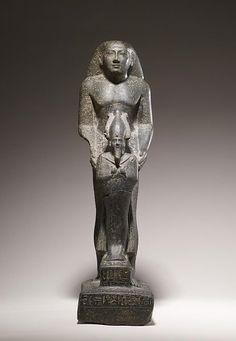 Egyptian Priest with God Osiris