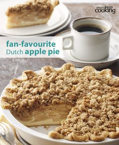 This family-favourite apple pie is super easy and tasty. Can't beat its crumbly topping, perfectly seasoned filling and flaky, golden crust. Click or tap the photo for this Dutch Apple Pie #recipe.
