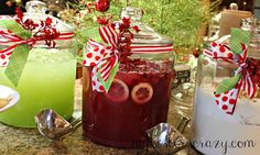 Christmas Punch (Green) Think I'll add Rum. 21 Amazing and Delicious Party Drinks for the Holiday Season Christmas Punch, Christmas Party Food, Christmas Cocktails, Christmas Appetizers, Christmas Cooking, Holiday Drinks, Christmas Goodies, Christmas Treats, Holiday Treats