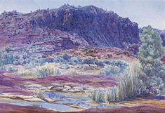 Discover the value of your art. Our database has art auction market prices for Albert Namatjira, Australia (Aboriginal) and other Australian and New Zealand artists covering the last 40 years sales. Watercolor Landscape, Landscape Art, Watercolor Paintings, Watercolours, Indigenous Australian Art, Australian Artists, Aboriginal History, Aboriginal Art, Australian Painting
