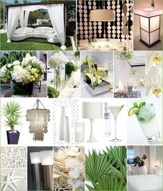 Here's that Modern White Party Inspiration Board that I emailed earlier. Still some great ideas for flowers and drinks- cris