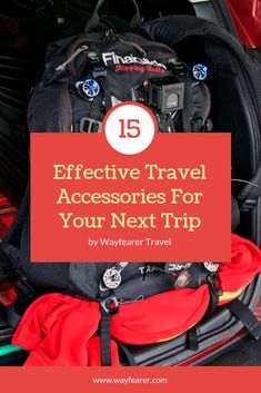 Top 15 effective travel accessories for your next trip: planning for a big road trip is harder than it might seem. having reliable equipment and gear to Travel Advice, Travel Guides, Travel Tips, Travel Hacks, Asia Travel, Budget Travel, Have A Safe Trip, Best Travel Accessories, Car Accessories