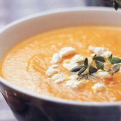 Fetajuustolla maustettu porkkanasosekeitto | Keitot | Yhteishyvä Soup Recipes, Snack Recipes, Cooking Recipes, Healthy Recipes, Snacks, Good Food, Yummy Food, Healthy Cooking, My Favorite Food
