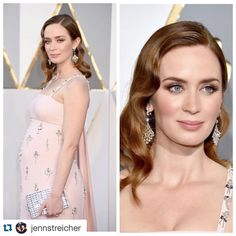#Repost @jennstreicher we couldn't have said it better! ・・・ Look at this stunner!  Pretty in pink #EmilyBlunt in @prada at the #Oscars2016 styled by @highheelprncess hair @laini_reeves #artistrybyme @lauramercier @reviveskincareofficial @sttropeztan