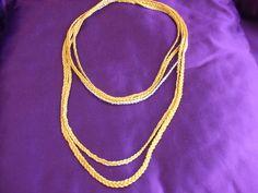 collana uncinetto e orecchini, by maglieria magica, 25,90€ su misshobby.com