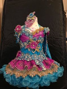 Glitz Pageant Dresses, Pagent Dresses, Pageant Hair, Beauty Pageant, Wedding Dresses, Fairy Costume For Girl, Fairy Costumes, Little Girl Dresses, Girls Dresses
