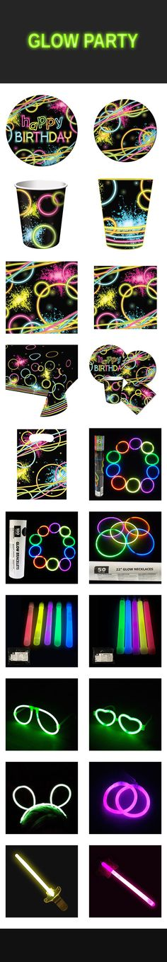 Bring some glow to your next party with glow party supplies. You'll find glow sticks, glow necklaces, plenty of glow favors, and even glow tableware. Need some? Try these: http://www.discountpartysupplies.com/boy-party-supplies/glow-party-supplies?utm_source=Pinterest&utm_medium=Social&utm_content=glow_party_supplies&utm_campaign=glow_party_Promoted_Pin