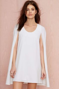 Nasty Gal Catherine Cape Dress - Ivory | Shop What's New at Nasty Gal