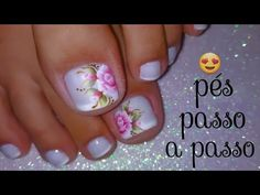 Nails Ivette - YouTube Pedicure Nail Art, Pedicures, Tattoos, Chic Nails, Pretty Nails, Gorgeous Nails, Nail Stickers, French Tip Toes, Nail Tutorials
