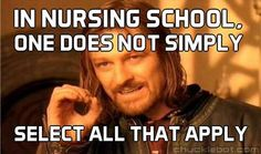 Nursing school exams... >.
