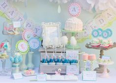 Sweet pastel birthday party via Amy Atlas