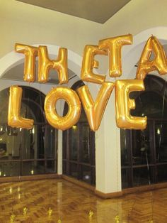 Use alphabet balloons to spell out your theme or message <----- great for a crossing party, neophyte show, etc.