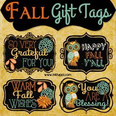 Fall printable gift tags to show your gratitude! - inkhappi - Today I am sharing some Fall printable gift tags with you! I have always had the attitude that shar - Fall Teacher Gifts, Thanksgiving Teacher Gifts, Teacher Gift Tags, Fall Gifts, Teacher Appreciation Gifts, Halloween Teacher Gifts, Volunteer Appreciation, Teacher Treats, Volunteer Gifts