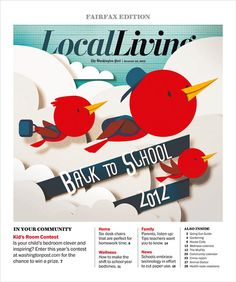 Back to School - The Washington Post by Bomboland , via Behance