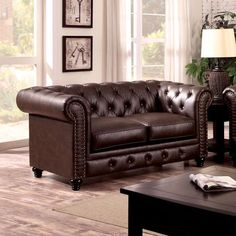 Stanford Brown Love Seat Collection CM6269BR-LV