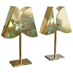 Pair of Brass Curtis Jere Lamps | From a unique collection of antique and modern table lamps at http://www.1stdibs.com/furniture/lighting/table-lamps/