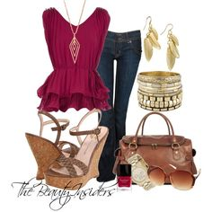Casual Comfy Style !! (Magenta pleat top $14)