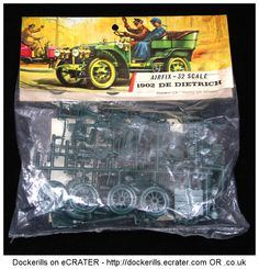 Vintage Airfix 1902 De Deitrich Kit. Type 3 / Red Stripe Bag Kit 1-32 Scale. Produced c. 1963-1973.