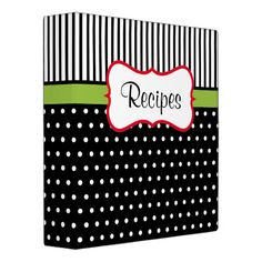 Dots give this recipe binder retro style. Use this empty binder as a recipe organizer cookbook recipe book folder notebook organizer scrapbook gift etc.The design is from original art. Folder Organization, Notebook Organization, Recipe Organization, Organization Ideas, Recipe Book Design, Planning Budget, Menu Planning, Recipe Binders, Binder Design