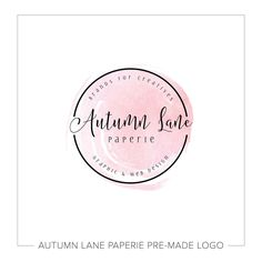 This listing is for a customizable black badge with pink watercolor logo. Put your company's name on it today!