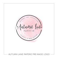 Premade Logo Design Watercolor Flower Logo by AutumnLanePaperie Watercolor Flower, Watercolor Logo, Custom Logo Design, Custom Logos, Logo Circular, Shabby Chic Logo, Skincare Logo, Flower Logo, Marca Personal