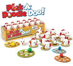 "Peek-A-Doodle Doo by Fat Brain Toy Co. - $21.95. Cluck! Cluck! What an ""egg-cellent"" memory you have! A ""My First Game"" for your clever little farmer. With its constant motion, Peek-A-Doodle Doo engages your child's memory and concentration in a farm fresh way!"