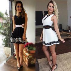 15.00€ Mini robe patineuse ouverte & dentelle - bestyle29.com