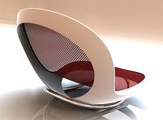 cadeira moderna de balanço