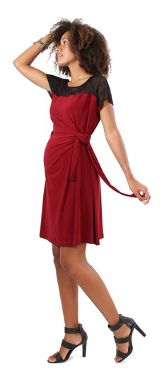 d&a MLBD the blocked adjustable dress | Japanese Weekend Nursing and Maternity Clothing