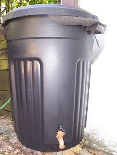 Converted Shed Details - DIY Rain Barrel - she makes it easy