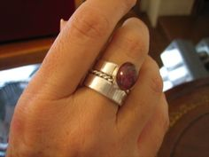 Sterling silver rings  - Pink tourmaline !