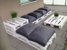 Range of furniture for the garden of modern design