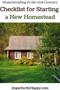 Checklist for Starting a New Homestead - Everything You Need to Know! Survival Life Hacks, Survival Skills, Off Grid Survival, Urban Farmer, Modern Homesteading, Country Lifestyle, Wild Edibles, Backyard Farming, Outdoor Sheds