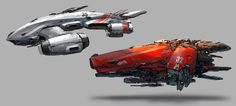 concept ships: Spaceships by J.C Park