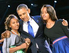 President Barack Obama, Sasha and Malia