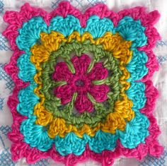 Wool Granny Squares by IamSusie, via Flickr