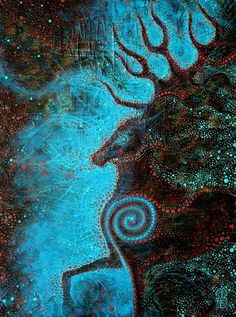 Beautiful Sacred Stag... Not sure who the artist is but please feel free to post it here...