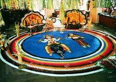 #ritual #folk #Kerala Ritual folk art of floral drawings, folk songs, traditional percussions etc....
